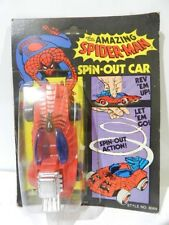 VINTAGE THE AMAZING SPIDERMAN SPIN-OUT CAR 1978 SEALED BRAND AHI MARVEL COMICS