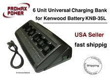 6 Bank Universal Interchangeable Charger for Kenwood 2 Way Radio TK 2160 3160