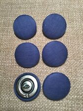 Denim Blue 45L/28mm Fabric Covered Buttons Craft Sewing Upholstery