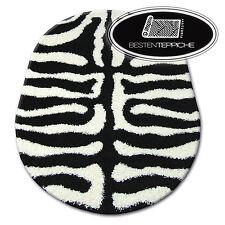 Carpet Comfortable To Touch Oval Shaggy Zena 3964 White Zebra Modern Designs