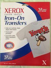 12 Xerox Color Inkjet Iron On Transfers 8.5 x 11 Inch School Sports Banners