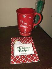 Teleflora Snowflake Red Mug Tis the Season w/Spoon + Buddy Cake Boss Recipe Book