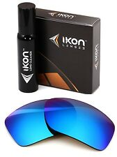 Polarized IKON Iridium Replacement Lenses For Oakley Big Taco Ice Blue Mirror