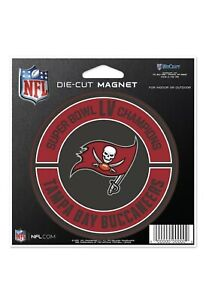 NEW! 2020 LV Super Bowl Champs Tampa Bay Buccaneers Die Cut Magnet 🧲 4''x 4''