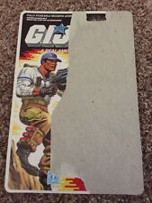 GI Joe Action Figure Full Back File Card ARAH Hardball