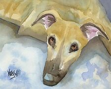 Greyhound Dog 11x14 signed art Print Rjk from painting