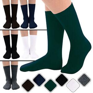 Mid Calf Ankle Crew Socks for Girls & Boys Cotton Rich Kids School Uniform Socks