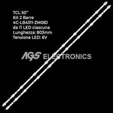 KIT 2 BARRES STRIP 11 LED-Fernseher TCL 4C-LB4311-HR01J / ZM08J 43HR330M11A1