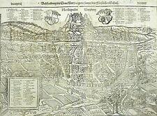WÜRZBURG - Vogelschau - Sebastian Münster - Holzschnitt 1552