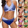 Women Polka Dots Bathing Suit Push-up Beach Swimsuit Bikini Swimwear Plus Size