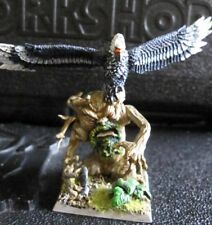 Warhammer Fantasy Wood Elves Great Eagle & Treekin on Scenic base OOP