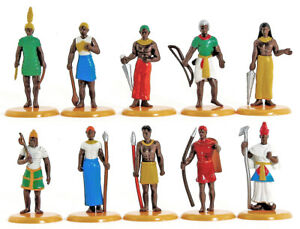 Timpo / Toyway Egyptian Pharaoh and Court - 54mm painted 1990s - mint on card