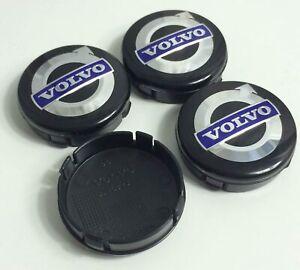 4pcs 64mm for VOLVO Black Rim Caps Alloy Wheel Center Caps Emblem Badge Hub Caps