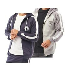 Mens Crosshatch Full Zip Ribbed Stylish Top Brushback Hoodie Sizes from S to XXL