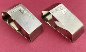Stunning pair of Art Deco sterling silver napkin rings Sheffield 1936