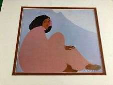 Hand Signed Pegge Hopper Offset Lithograph on Paper Hawaiian Woman