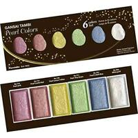 Kuretake Gansai Tambi Pearl colors 6 color set MC20PC/6V From Japan
