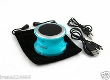 "AZECA Mini Aqua Blue PORTABLE POP-UP BLUETOOTH yo yo 3 watt SPEAKER 2.5"" NIB $35"