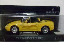 MASERATI 1:43 MASERATI SPYDER GT 2001 GIALLO YELLOW  ART 50002