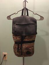 "Cute Women's Tribal Printed 15"" Canvas Flap Backpack, School & Travel Rucksack"