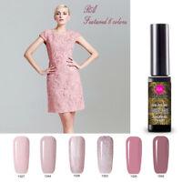 Nail Gel Polish Soak Off UV LED Manicure Nude Pink 6 Colors Set w/ Gift Box