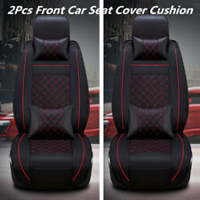 Deluxe Edition 5-Seats PU Leather Car Front Seat Cover Cushion With 4Pillows Kit