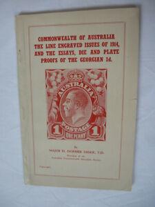 AUSTRALIA LINE ENGRAVED STAMPS OF 1914 by Mjr DORMER LEGGE