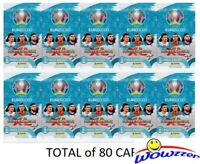(10) 2020 Panini Adrenalyn UEFA EURO Factory Sealed Packs-80 Cards! From EUROPE
