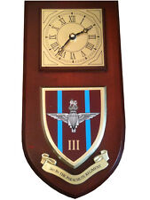 3rd bn Parachute Regiment Military Shield Wall Plaque Clock
