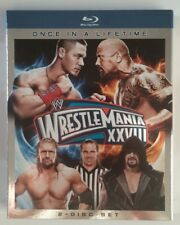 WWE WRESTLEMANIA XXVIII 28 (Blu-ray Disc, 2012, 2-Disc Set) LIKE NEW Rock Cena