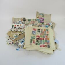 Mixed Worldwide Stamp Bundle Job Lot Loose & Stuck On Pages Vintage Collection