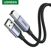 UGREEN USB 3.0 Printer Cable A Male to B Male Scanner Data Sync Lead Fr Canon HP