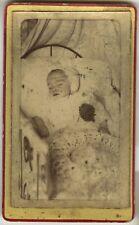 PHOTO ANCIENNE - VINTAGE SNAPSHOT - CDV - POST MORTEM ENFANT MORT DÉFUNT - DEAD