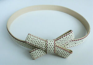 BEAUTIFUL ALANNAH HILL CREAM LEATHER WAIST BELT size M/L waist 27 to 31 inches
