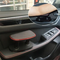 Soft Car Armrest Console Cushion PU Leather Adjustment Car Seat Armrest Red