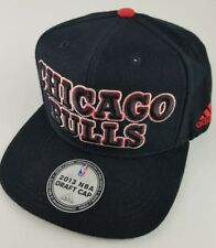 Chicago Bulls Adidas NBA Draft Authentic Snapback Hat-Black Adult NWOT 2013