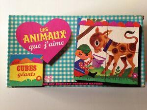 CUBES GEANTS LES ANIMAUX QUE J'AIME // JEU EDUCATIF FERNAND NATHAN - VINTAGE