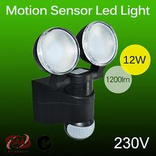2x 12W Cool White LED PIR Motion Sensor Flood Light Outdoor security Lamp 230V