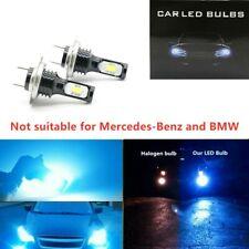 H7 3030 LED Headlight High Low Beam Bulbs Kit 8000K Blue 55W 8000LM Super Bright
