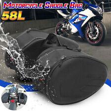 58L Motorcycle Bike Pannier Capacity Luggage Saddle Bag Side Seat Waterproof CB