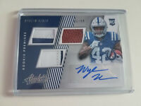 2018 Absolute Nyheim Hines Triple Rookie Relic Autograph #'ed 86/99 COLTS