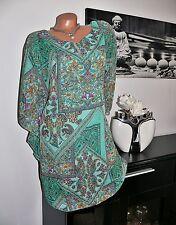 ♥  Bluse Tunika Paisley Romantik Flügelärmel grün 40 42 44 gr NEU  ♥