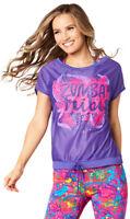 Zumba Tribe Mesh Top Shirt - Purple Moon - size XS & Small ~ New!