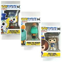 Funko Pop Ad Icons PEZ Set of 3 Vinyl Figures Peter Pez Mimic Monkey Pez Girl