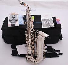 Professional TaiShan Silver nickel Curved Soprano Saxophone Bb High F# Sax New