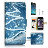 ( For iPhone 6 / 6S ) Wallet Case Cover P3312 Christmas Tree