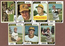 1974 Topps (7) Pirates 28 237 Brett 262T 317 Zisk 402 513 649  (20% *Rebates!)