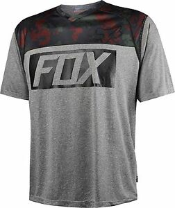 Fox Racing Indicator Print s/s Jersey Heather Graphite