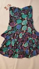 BILLABONG  FLORAL STRAPLESS SUMMER DRESS SIZE 8