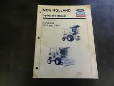 Ford New Holland 1915 2115 Harvester Operator's Manual